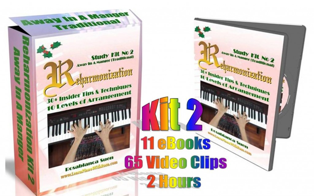 Reharmonization Study Kit No.2 Away In A Manger (Traditional Melody)