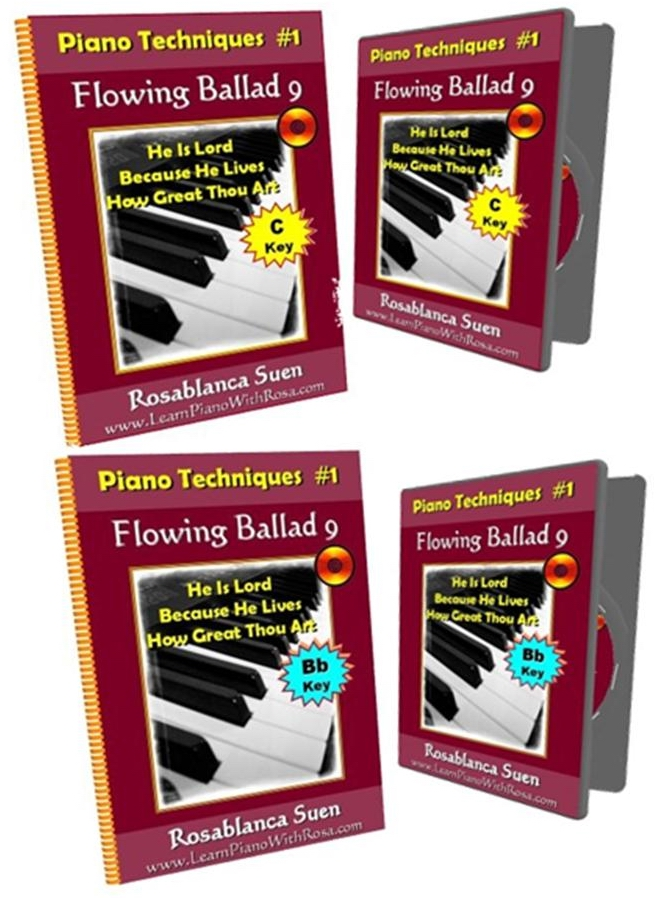 16th Note Playing – Piano Technique #1 Flowing Ballad 9 – Key of C & Key of Bb