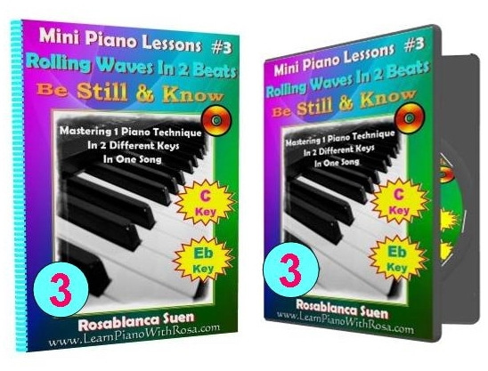 Mini Piano Lesson 3 - Be Still & Know - Rolling Waves