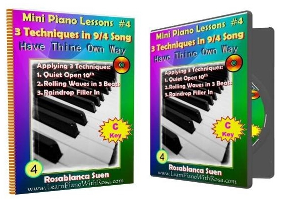 Mini Piano Lesson #4  – 3 Techniques in a 9/4 Song