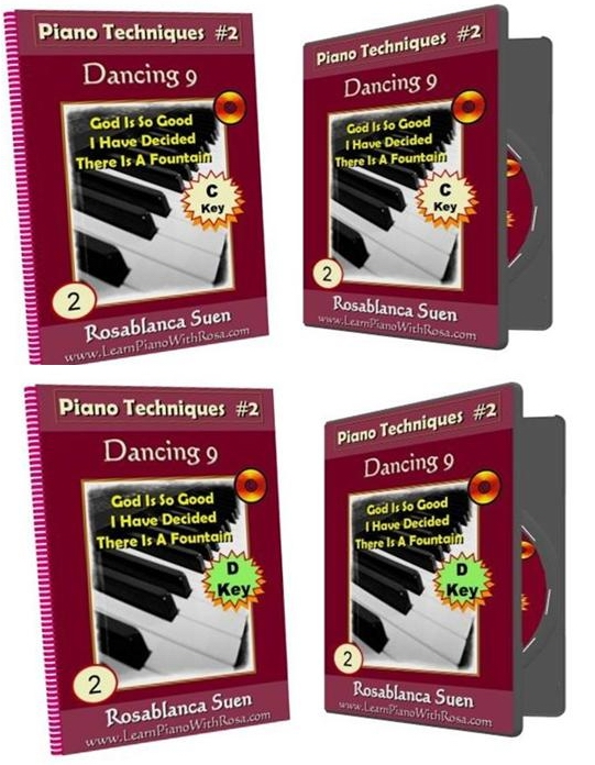 16th Note Playing – Piano Technique #2:  Ostinato Dancing 9 in C Key and D Key