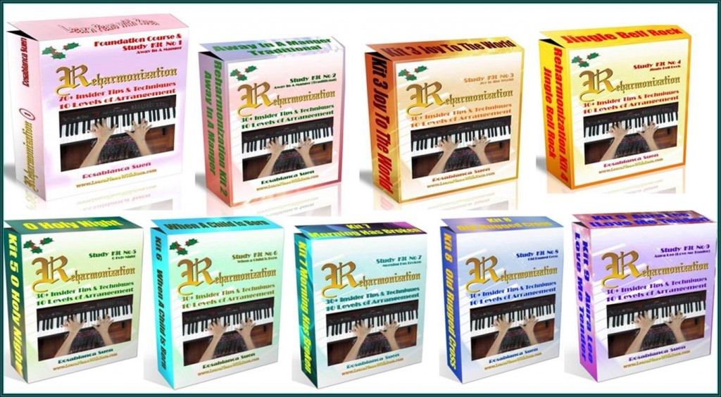Reharmonization Piano Courses - Bundle of 9