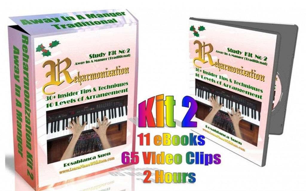Reharmonization Piano Course - Kit 2 - Away In A Manger Traditional