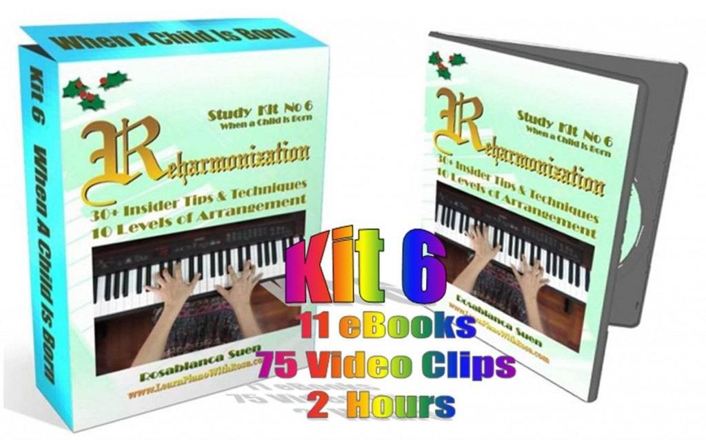 Reharmonization Piano Course - Kit 6 - When A Child Is Born