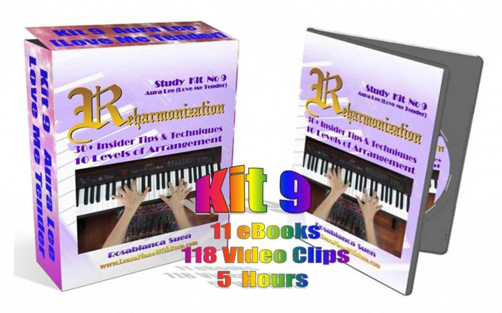 Reharmonization Piano Course - Kit 9 - Aura Lee