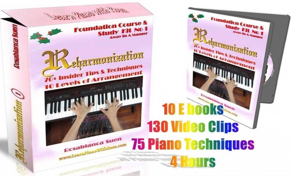 Reharmonization Piano Course - Kit 1- Away In A Manger