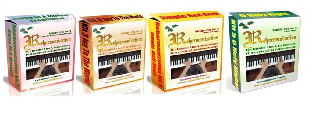 Reharmonization Piano Course - Bundle of 4 - Kit 2 to 5