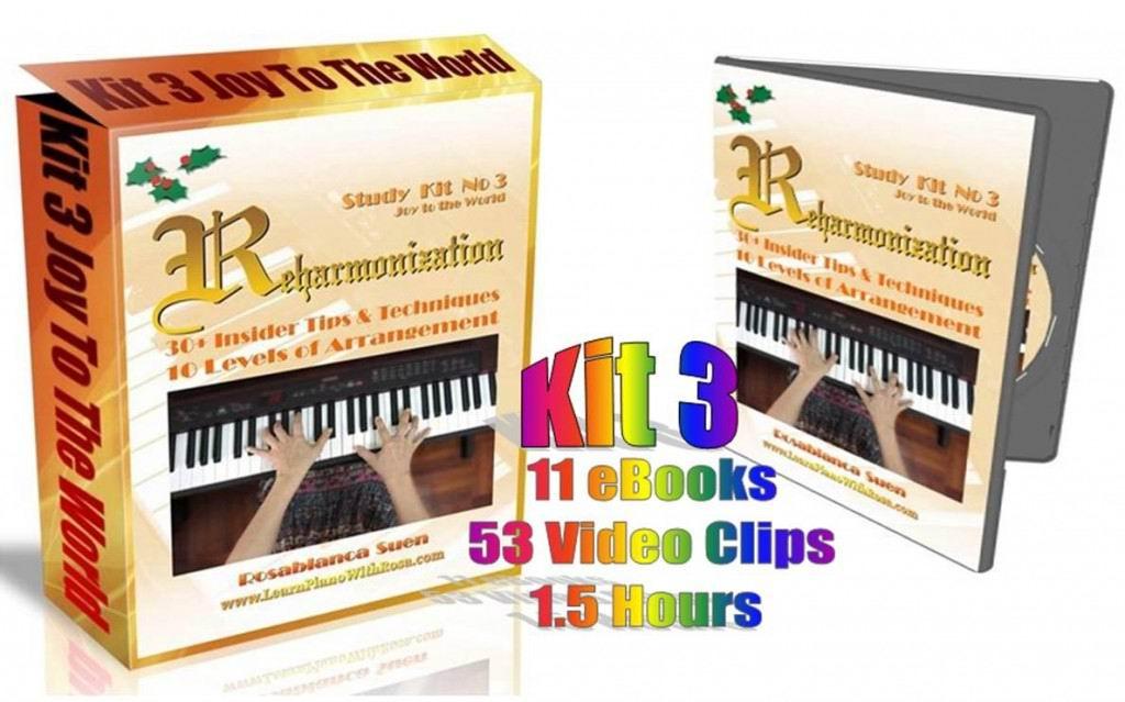 Reharmonization Piano Course Kit 3 - Joy To The World